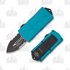 Microtech Exocet Turquoise Partially Serrated