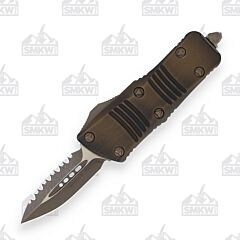 Microtech Signature Series Troodon Bronze Apocalyptic Serrated