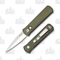Pro-Tech Knives Godson Auto Green Handle Satin Finish Blade