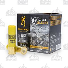 Browning Wicked Blend Waterfowl 20 Gauge 3 Inch 1oz Bird Shot 25 Rounds