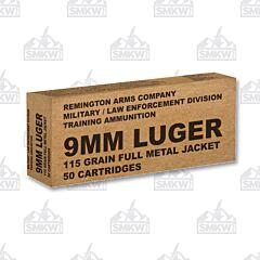 Remington 9mm Luger 115 Grain FMJ 50 Rounds