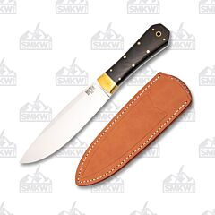 Bark River Knives Mini Rogue Black Canvas Micarta Handle