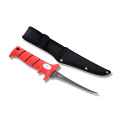 Bubba Blades 1085876 Whiffie Fillet Knife Stainless Steel Blade Red Rubberized Handle