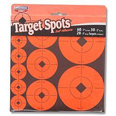"Birchwood Casey Target Spots Assorted 1"", 2"" 3"" Targets - Radiant Red"