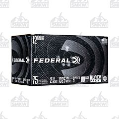"Federal Black Pack 12 Gauge 2-3/4""  00 Buckshot 75 Rounds"