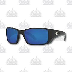 Costa Blackfin Pro Matte Black Sunglasses Blue Mirror Glass