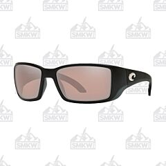 Costa Blackfin Pro Matte Black Sunglasses Copper Silver Plastic