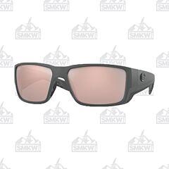 Costa Blackfin Matte Gray Sunglasses Copper Silver Glass