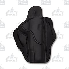 1791 Gunleather Stealth Black Open Top Right Hand OWB 1911 Belt Holster Size 1