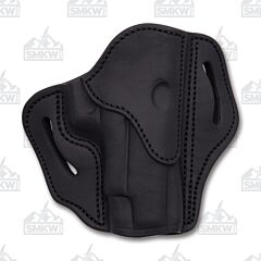 1791 Gunleather Stealth Black Open Top Right Hand OWB 2.3 Multi-Fit Belt Holster Size 1