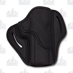 1791 Gunleather Stealth Black Open Top Right Hand OWB 2.4 Multi-Fit Belt Holster Size 1