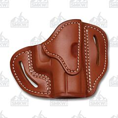 1791 Gunleather Classic Brown Open Top Right Hand OWB Compact Multi-Fit Belt Holster Size 1