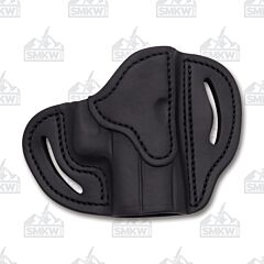 1791 Gunleather Stealth Black Open Top Right Hand OWB Compact Multi-Fit Belt Holster Size 1
