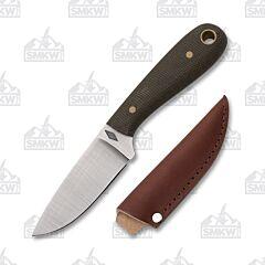Battle Horse Knives Frontier First Green O1 Blade Micarta Handle
