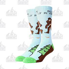 Oooh Yeah! Bigfoot Believe in Yourself Men's Athletic Socks