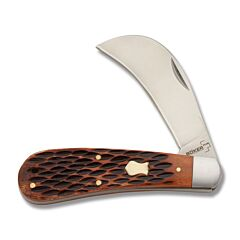 Boker Plus Brown Bone Hawkbill Brown Jigged Bone Handle 440C Stainless Steel Blade