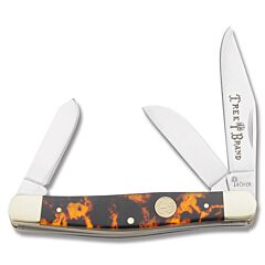 Boker Traditional Series Tortoise Stockman Faux Tortoise Shell Composition Handle High Carbon Stainless Steel Blades