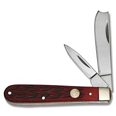 Boker Traditional Series Red Bone Razor Jack Red Jigged Bone Handle High Carbon Stainless Steel Blades