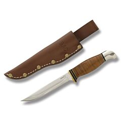 Boker Plus USAF Pilot Survival Knife Sk-5 Carbon Steel Blade Stacked Leather and Aluminum Handle