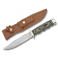 Boker Magnum Safari Mate XD Bowie 440A Stainless Steel Blade Brown Plywood Handle