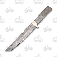"7.25"" Damascus Steel Tanto Blade Blank"