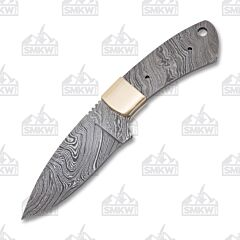 "3-1/2"" Hunter Blade Blank Damascus Steel"