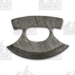 "6.5"" Ulu Damascus Steel Blade Blank"