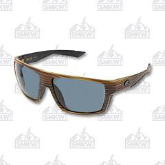 Costa Bloke Sunglasses Gray Polarized Plastic Lenses Matte Verde Teak Plastic Frames