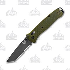 Benchmade 537SGY-1 Bailout Woodland Green Tanto Partially Serrated