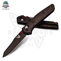 Benchmade Knives Osborne Design 940 Red Resin Infused Carbon Fiber Handles