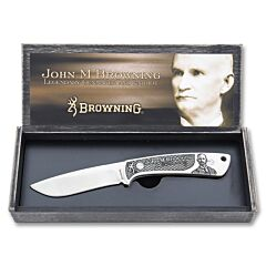 Browning John M Browning Collector's Fixed Blade Skinner Stainless Steel Blade Composition Handle