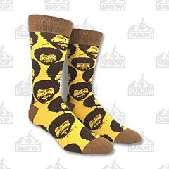 Oooh Yeah! Bob Ross Flash Mob Men's Crew Socks
