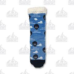 Oooh Yeah! Happy Clouds Bob Ross Slipper Socks M/S