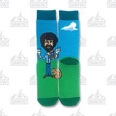 Oooh Yeah! Let's Paint Bob Ross Men's Crew Socks