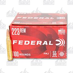 Federal American Eagle Ammo 223 Remington 55 Grain Full Metal Jacket 100 Rounds