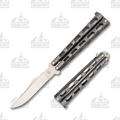 Bear and Son Balisong 114 Silver Vein Clip Point
