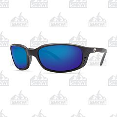 Costa Brine Matte Black Polarized Glass