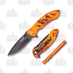 Bear Edge 71819 Combo Set Orange Camo