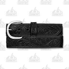 Brighton Men's Western Scroll Belt Black