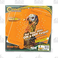 "Caldwell Orange Peel Turkey Target 12"" Bullseye 5 Sheets"