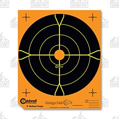 "Caldwell Orange Peel 8"" Bulls Eye 25 Sheets"