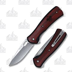"Buck Knives Boy Scouts of America Vantage with Rosewood Handle and Satin Finish 420 High Carbon Stainless Steel 2.625"" Drop Point Plain Edge Blades Model 0346RWSBSA-B"