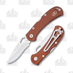 Buck 722 Spitfire Brown Partially Serrated