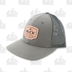 Buck OD Green Leather Patch Adult Hat