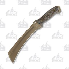 Buck Coyote Tan Talon Machete Tricolored Micarta