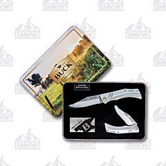 Buck 216/217 Linerlock Set with Gift Tin