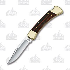 Buck 110 Folding Hunter Macassar Ebony Wood Handle