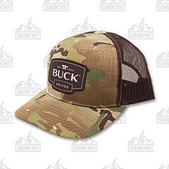 Buck Multicam Trucker Hat