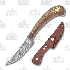 BW Custom Damascus Celtic Clover Hunter