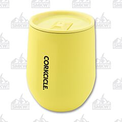 Corkcicle 12oz Neon Lights Yellow Stemless Wine Cup
